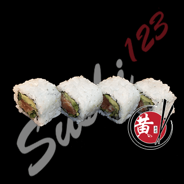 Foto Salmon roll 9 pieces